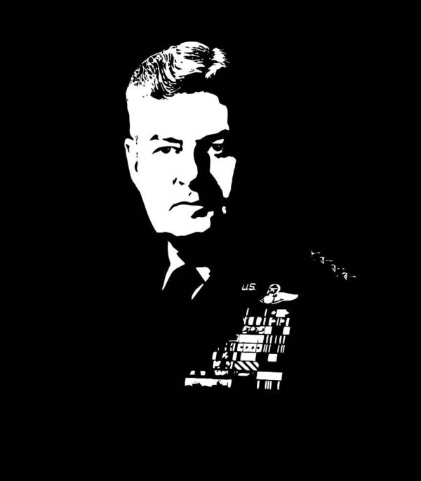 Curtis Lemay Print featuring the digital art General Curtis Lemay by War Is Hell Store