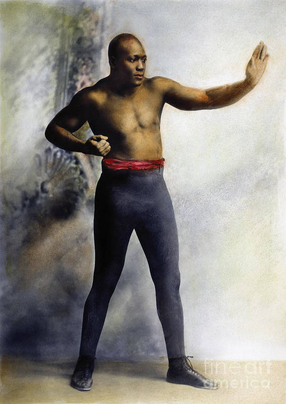 1909 Print featuring the photograph Jack Johnson (1878-1946) by Granger