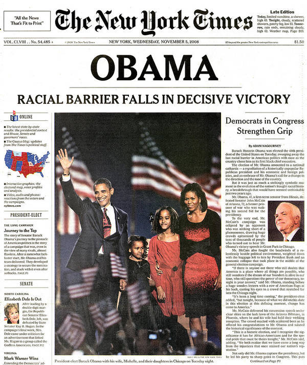 2008 Print featuring the photograph Presidential Campaign, 2008 by Granger