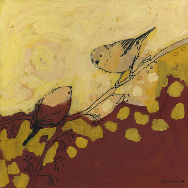 Bird Print featuring the painting A Short Pause by Jennifer Lommers