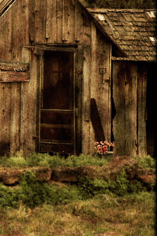 Old Home Print featuring the photograph Abandoned by Bonnie Bruno