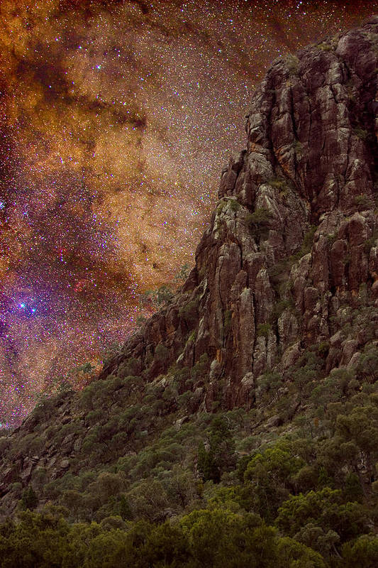 Milky Way Print featuring the photograph Aboriginal Dreamtime by Charles Warren