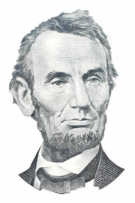 Abraham Lincoln Print featuring the photograph Abraham Lincoln by David Houston