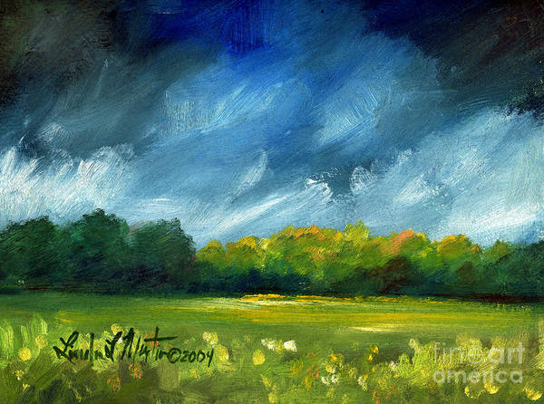 Oil Painting Print featuring the painting After Spring Rain by Linda L Martin