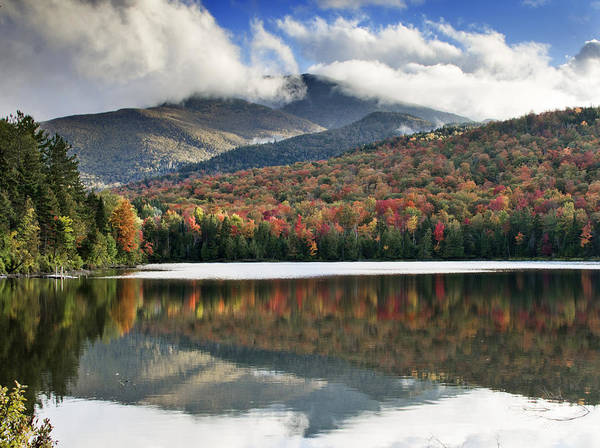Fall Print featuring the photograph Algonquin Peak From Heart Lake - Adirondack Park - New York by Brendan Reals