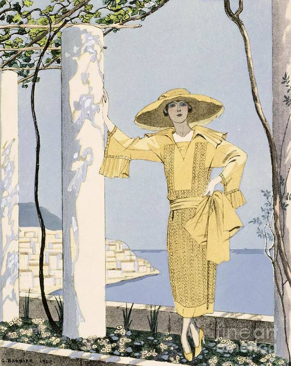 Print featuring the painting Amalfi by Georges Barbier