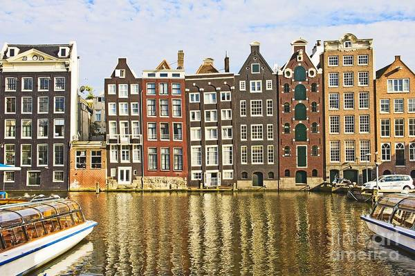 Age Print featuring the photograph Amsterdam Canal by Giancarlo Liguori