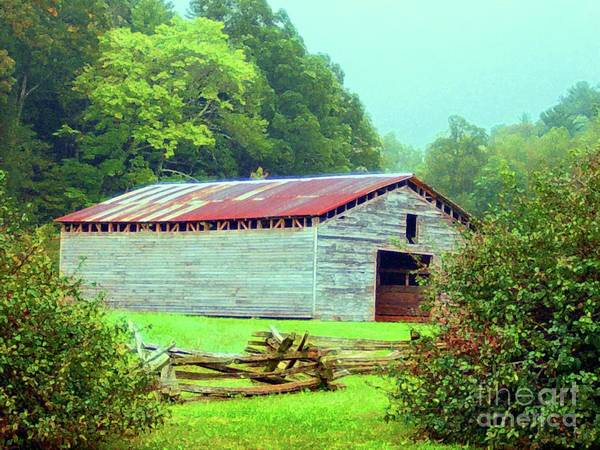 Appalachain Print featuring the mixed media Appalachian Livestock Barn by Desiree Paquette