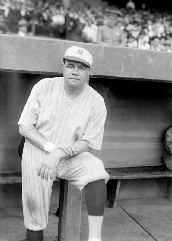 1920s Print featuring the photograph Babe Ruth, 1921 by Everett