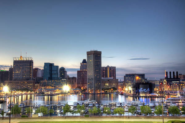 Baltimore Print featuring the photograph Baltimore Harbor by Shawn Everhart