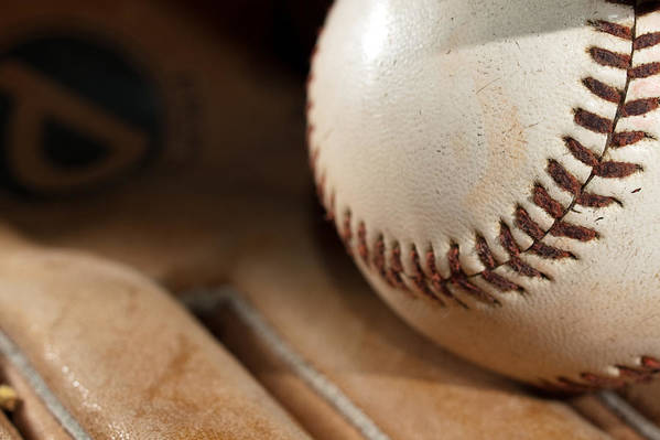Baseball Print featuring the photograph Baseball by Felix M Cobos