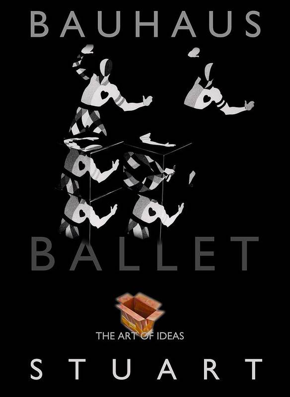Bauhaus Print featuring the photograph Bauhaus Ballet Black by Charles Stuart