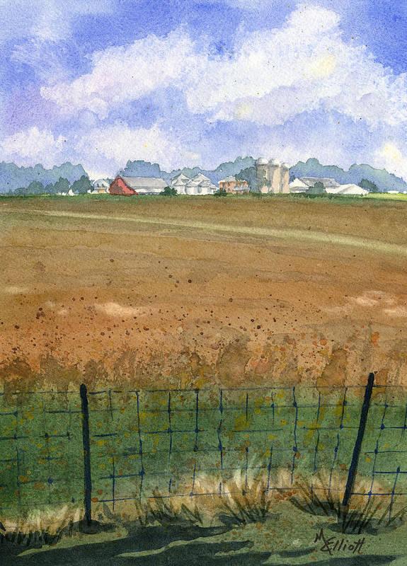 Farm Print featuring the painting Beautiful Ohio by Marsha Elliott