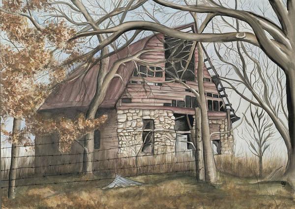 Barn Print featuring the painting Bella Vista Barn by Patty Vicknair