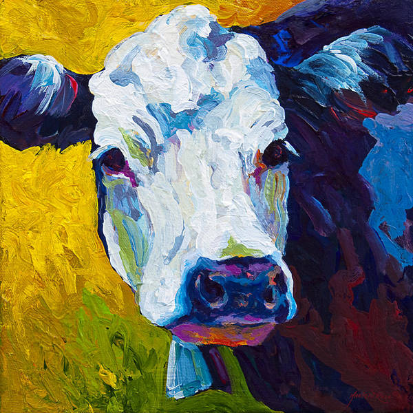 Cows Print featuring the painting Belle by Marion Rose
