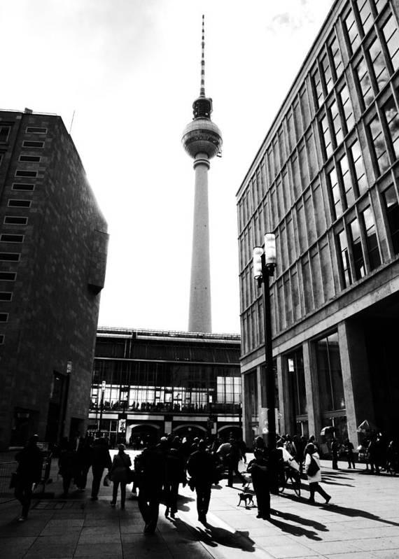 Berlin Print featuring the photograph Berlin Street Photography by Falko Follert