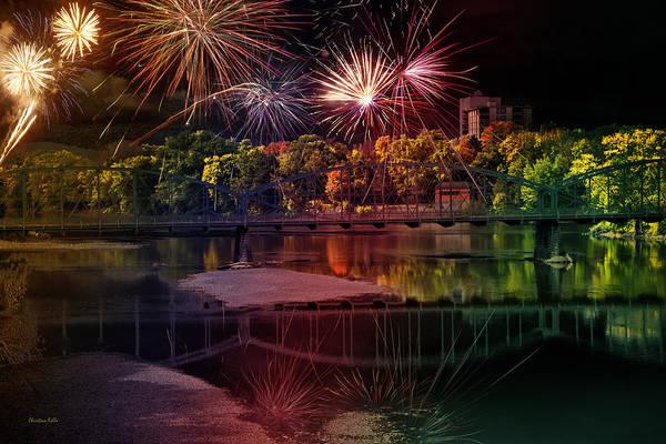 Binghamton Fireworks Art Print by Christina Rollo