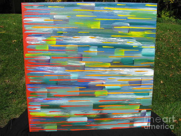 Movement Print featuring the painting Blindsided by Jacqueline Athmann