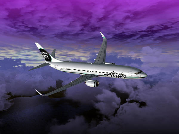 Aviation Print featuring the digital art Boeing 737 Ng 001 by Mike Ray