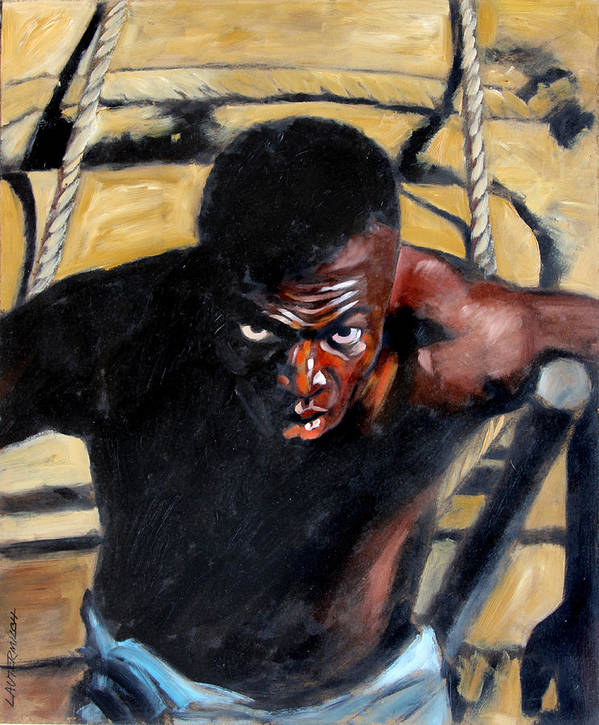 Slavery Print featuring the painting Bondage by John Lautermilch