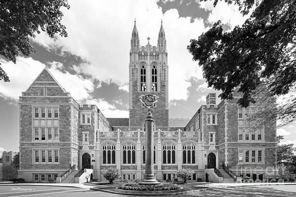 Gasson Hall Print featuring the photograph Boston College Gasson Hall by University Icons