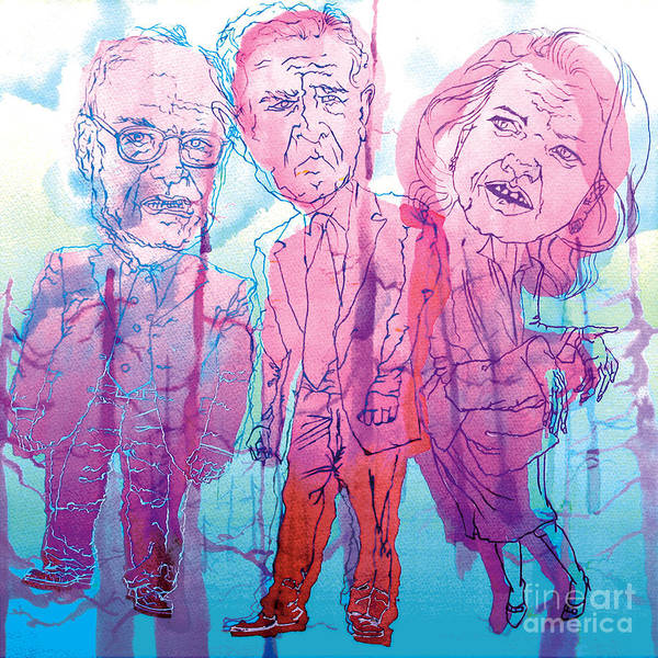Bush Print featuring the painting Bush Administration 2008 by Danielle Criswell