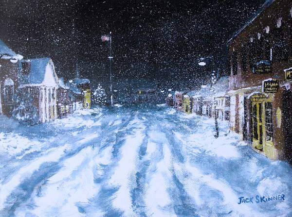 Snow Print featuring the painting Call Out The Plows by Jack Skinner
