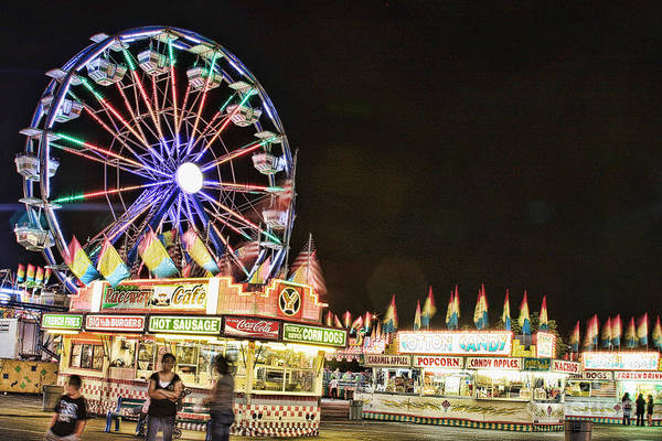 Carnival Images Print featuring the photograph carnival Fun and Food by James BO Insogna