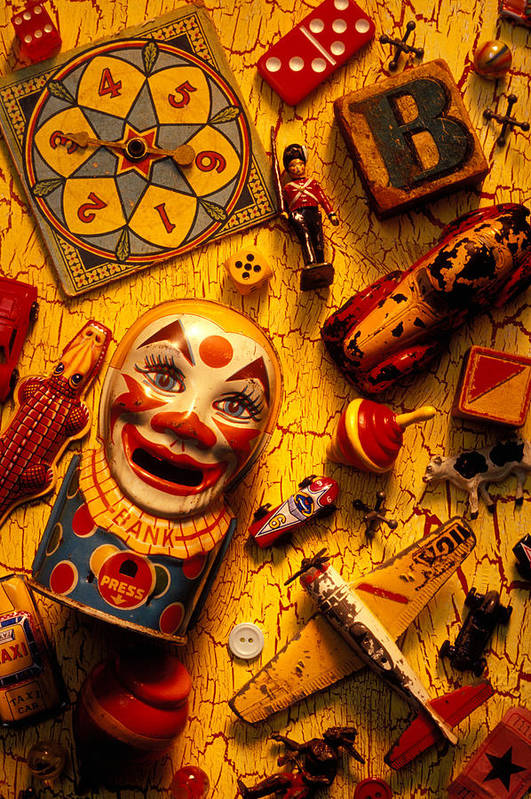 Toy Print featuring the photograph Childhood Toys by Garry Gay