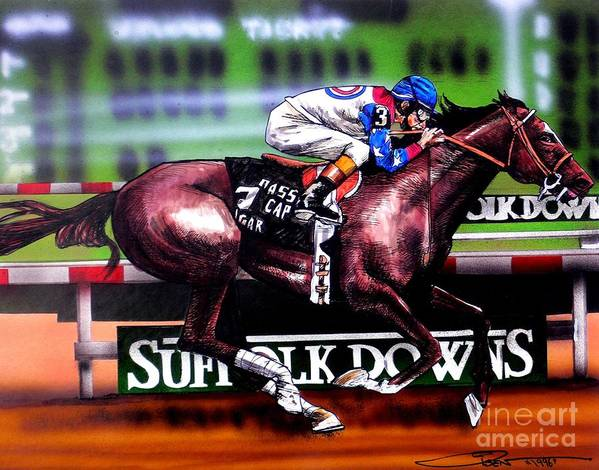 Racing Print featuring the painting Cigar by Dave Olsen
