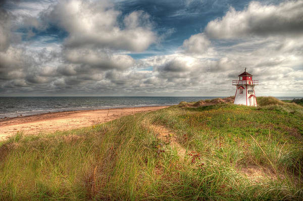Covehead Print featuring the photograph Covehead Lighthouse by Elisabeth Van Eyken