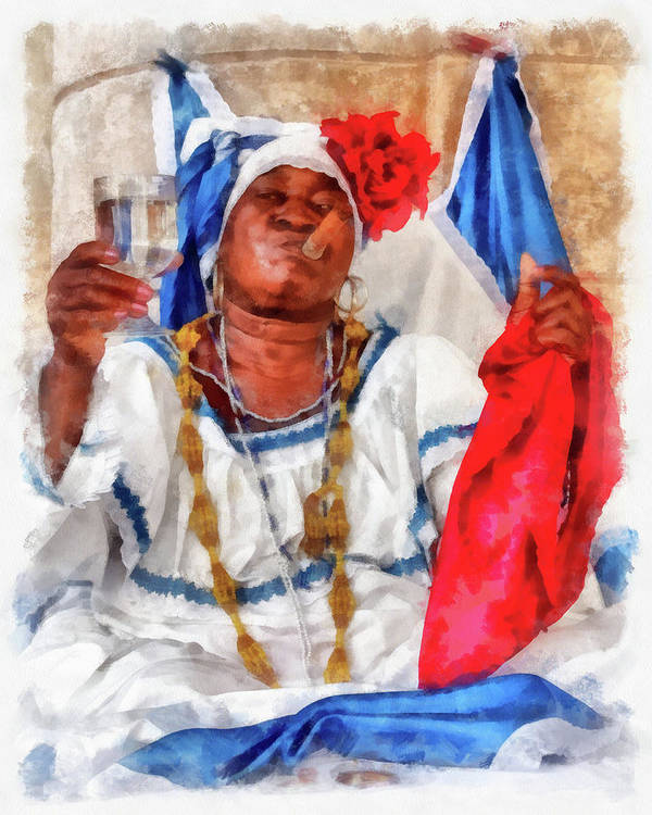 Adult Print featuring the photograph Cuban Character by Dawn Currie