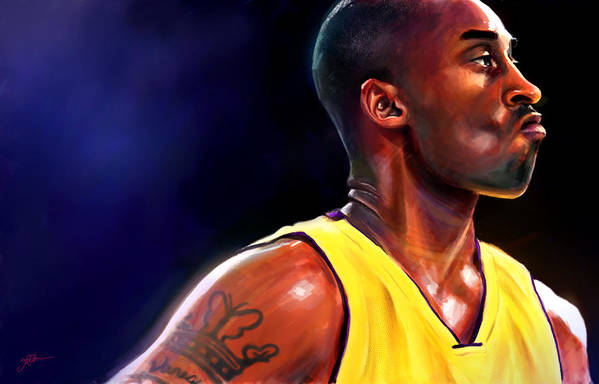Kobe Print featuring the digital art Daggers by Jack Perkins