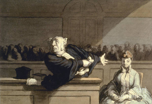 1860 Print featuring the photograph Daumier: Advocate, 1860 by Granger
