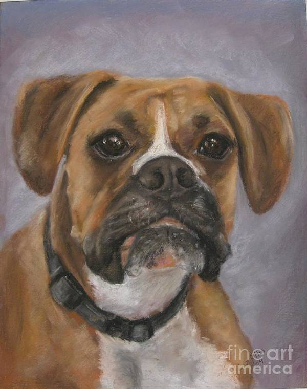 Boxers Print featuring the painting Dave by Elizabeth Ellis