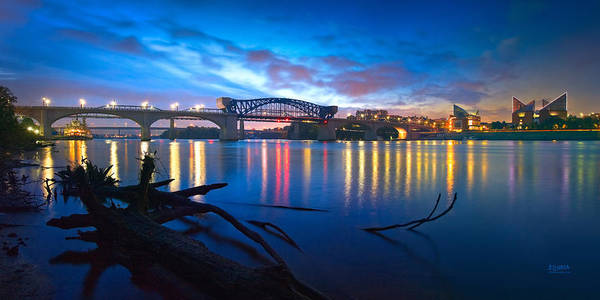 River Print featuring the photograph Dawn Along The River by Steven Llorca