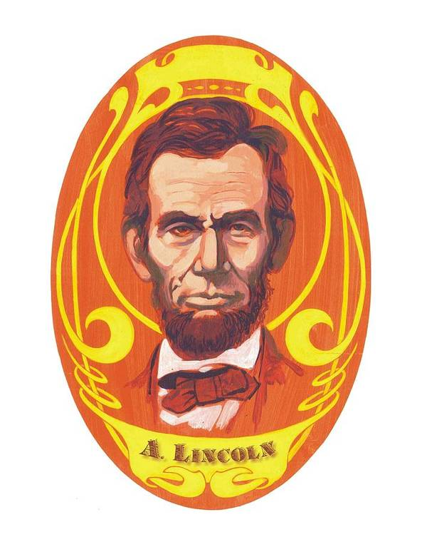 Abraham Lincoln Print featuring the painting Dayglow Lincoln by Harry West