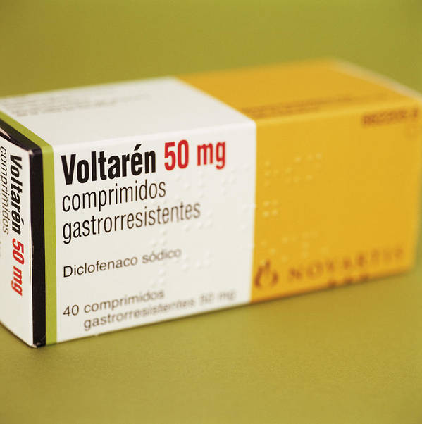 Voltaren Print featuring the photograph Diclofenac Painkiller Tablets by Cristina Pedrazzini