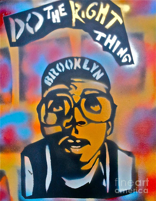 Spike Lee Print featuring the painting Do The Right Thing by Tony B Conscious