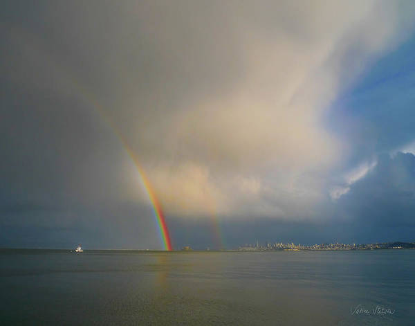Rainbow Print featuring the photograph Double Rainbow by Sabine Stetson