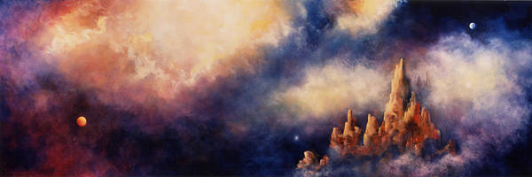 Landscape Print featuring the painting Dreaming Sedona by Marina Petro