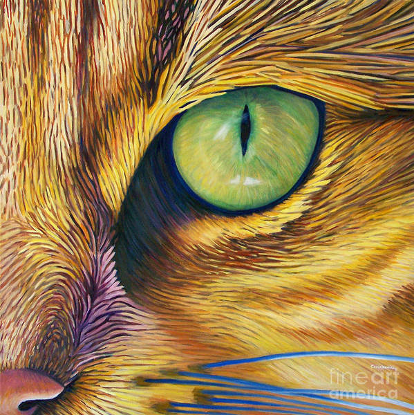 Cat Print featuring the painting El Gato by Brian Commerford