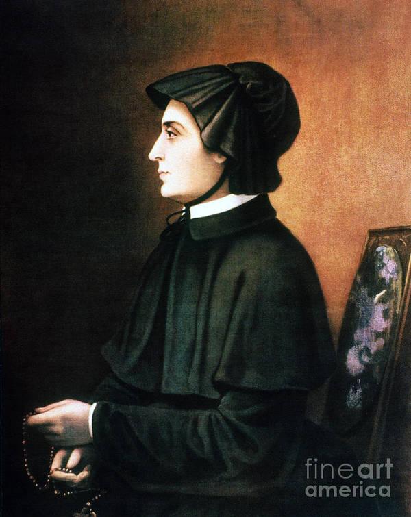 1804 Print featuring the painting Elizabeth Ann Seton by Granger