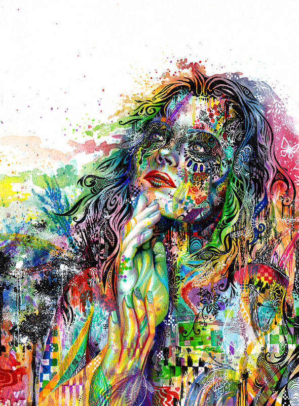 Dream Print featuring the painting Enigma by Callie Fink