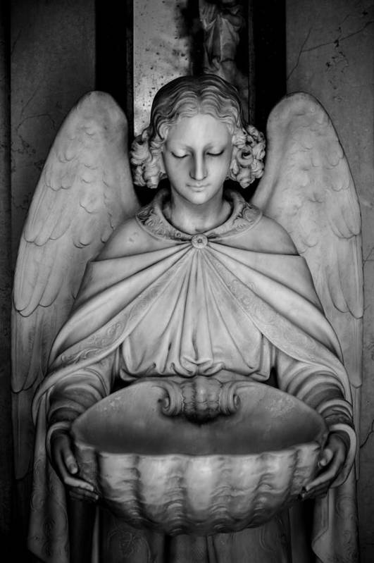 Angel Print featuring the photograph Entrance Angel by Anthony Citro