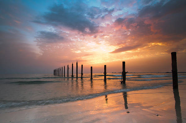 Horizontal Print featuring the photograph Fahaheel Sunrise Kuwait by Shahbaz Hussain's Photos
