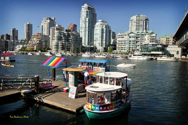 False Creek Print featuring the photograph False Creek In Vancouver by Tom Buchanan
