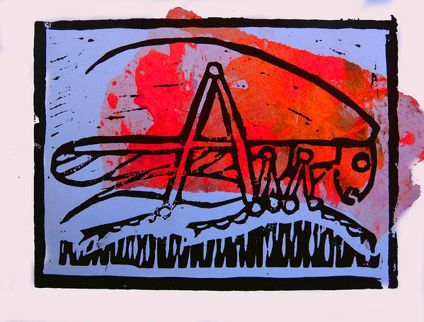 Cricket Print featuring the mixed media Fire Cricket by Adam Kissel
