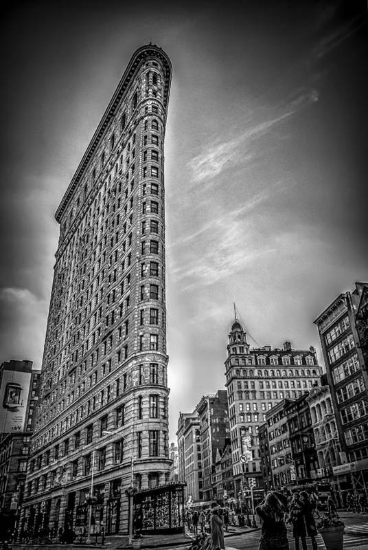 Architecture Print featuring the photograph Flatiron by Shari Mattox