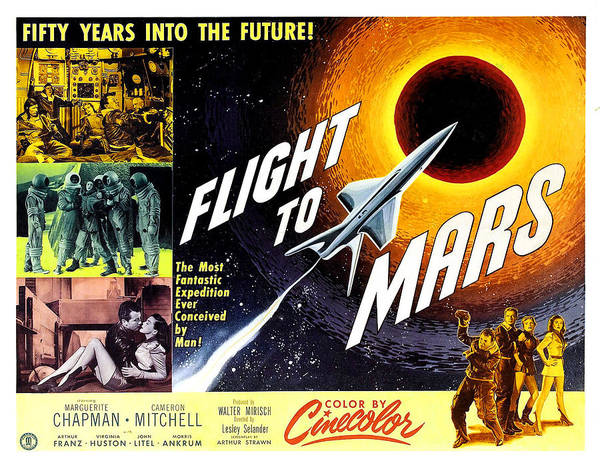 1950s Poster Art Print featuring the photograph Flight To Mars, 1951 by Everett